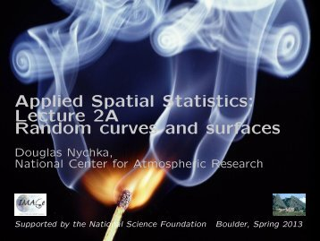 Applied Spatial Statistics: Lecture 2A Random curves and ... - IMAGe