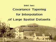 Covariance Tapering for Interpolation of Large Spatial ... - IMAGe