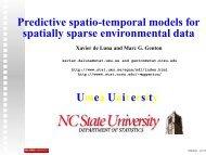 Predictive spatio-temporal models for spatially sparse ... - IMAGe