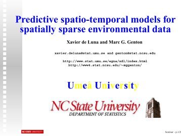Predictive spatio-temporal models for spatially sparse ... - IMAGe