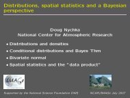 Distributions, spatial statistics and a Bayesian perspective - IMAGe