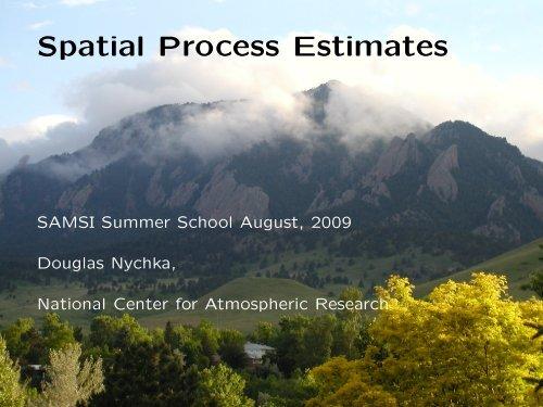 Spatial Process Estimates - IMAGe