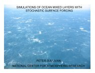 simulations of ocean mixed layers with stochastic surface ... - IMAGe