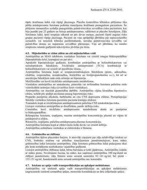 Saskaņots ZVA 23.09.2010. ZĀĻU APRAKSTS 1. ZĀĻU ... - Grindeks