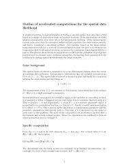 Outline of accelerated computations for the spatial data ... - IMAGe