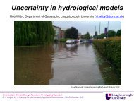 Uncertainty in hydrological models - IMAGe