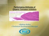 Performance Attributes of Organic Corrosion Inhibitors - Halox