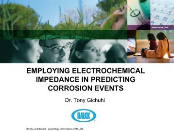Employing Electrochemical Impedance in Predicting ... - Halox