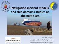 Navigation incident models and ship domains studies ... - Baltic Master