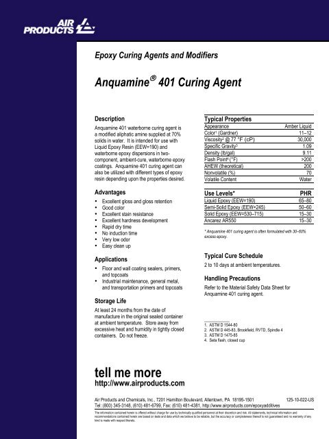 Epoxy Curing Agents and Modifiers - Halox