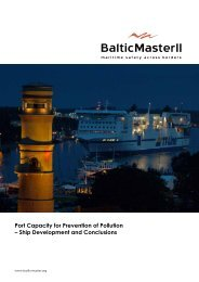 Port Capacity for Prevention of Pollution - Baltic Master