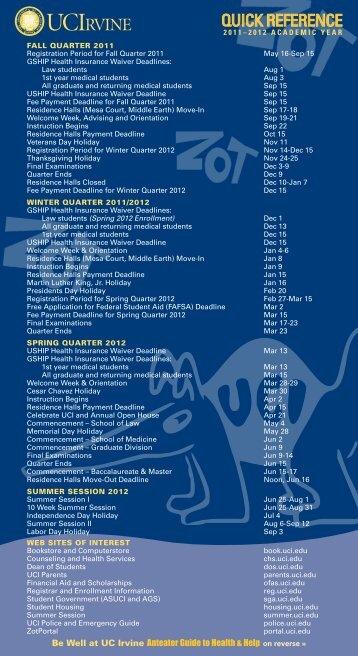 2011–2012 academic year - Student Affairs - University of California ...