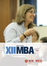 Download Executive MBA AESE/IESE brochure