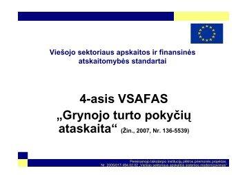 """4-asis VSAFAS – """"Grynojo turto pokyčių ataskaita"""""""