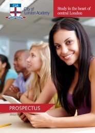 PROSPECTUS - CLA: City of London Academy