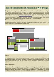 Basic Fundamental of Responsive Web Design