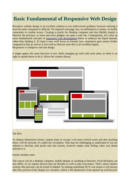 Basic Fundamental Of Responsive Web Design