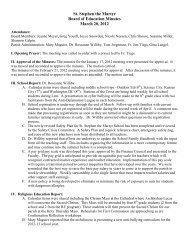 St. Stephen the Martyr Board of Education Minutes March 20, 2012