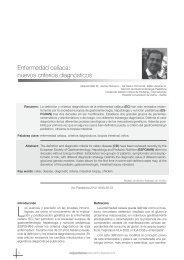Enfermedad celíaca: nuevos criterios diagnósticos - Sociedad de ...