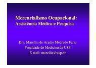 Mercurialismo Ocupacional: Assistência Médica e Pesquisa - ACPO