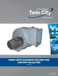Backward Inclined Fans for Dust Collectors - Twin City Fan & Blower