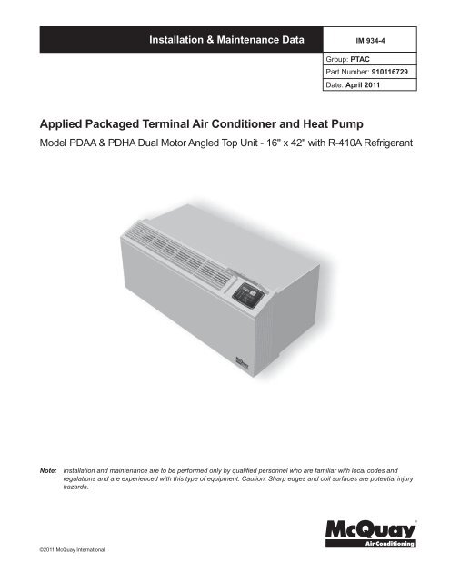 Applied Packaged Terminal Air Conditioner And Heat Pump HTS