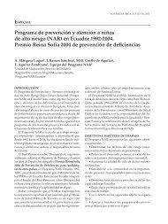 Programa de prevención y atención a niños de alto riesgo (NAR)
