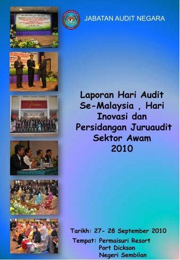 Laporan Hari Audit Se-Malaysia , Hari Inovasi dan Persidangan ...