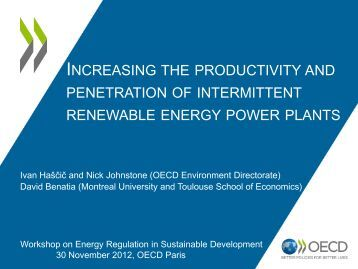 Productivity and Penetration of Intermittent Renewable Energy ...