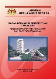 laporan ketua audit negara badan berkanun persekutuan tahun 2005