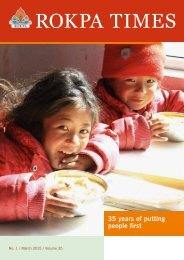 ROKPA Times March 2015 - 35 years of putting people first