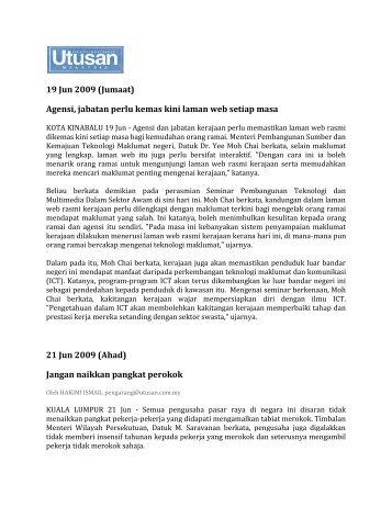 19 Jun 2009 (Jumaat) - Jabatan Audit Negara