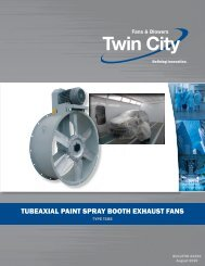 TUBEAXIAL PAINT SPRAY BOOTH EXHAUST FANS - HTS