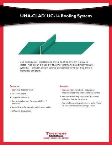 Una Clad Uc 14 Roofing System Firestone Building Products