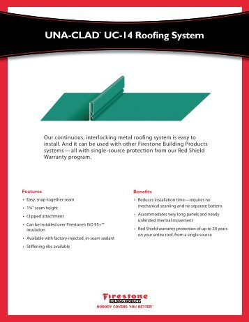 Una Clad Metal Roofing Systems Firestone Building Products