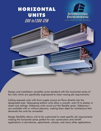 Horizontal Series Flyer - IEC International Environmental