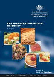 Price Determination in the Australian Food Industry A Report
