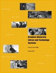 Program Plan for FY2008 - Brandeis University Libraries