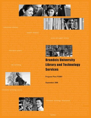 Program Plan for FY2007 - Brandeis University Libraries