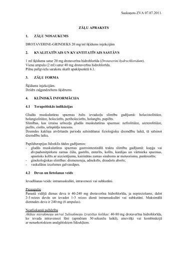 ZĀĻU APRAKSTS - Grindeks