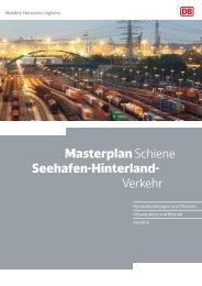 Masterplan Schiene Seehafen-Hinterland- Verkehr