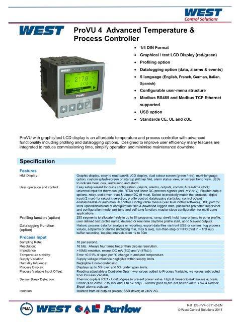 ProVU 4 Advanced Temperature & Process Controller - Seagate