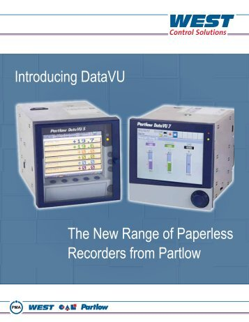Introducing DataVU The New Range of Paperless Recorders from ...