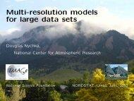 Multi-resolution models for large data sets - IMAGe