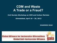 Case Study on CDM Waste Project - Carbon Market Watch