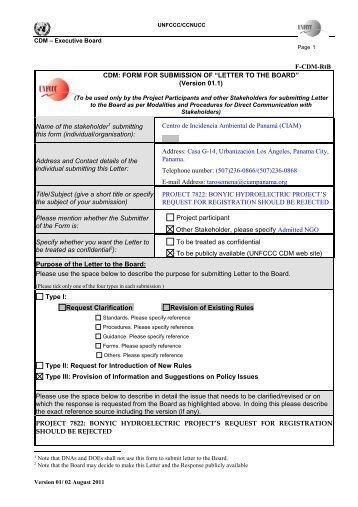 Letter PDF - Carbon Market Watch
