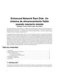 Enhanced Network Ram Disk. Un sistema de almacenamiento fiable ...