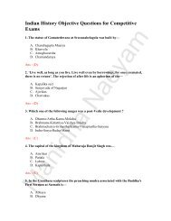 Indian History Objective Questions for Competitive Exams - saidai ...