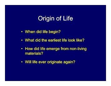 Origin of Life - Mama Indstate