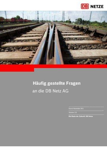 Häufig gestellte Fragen an die DB Netz AG - DB Netz AG - DB Netze